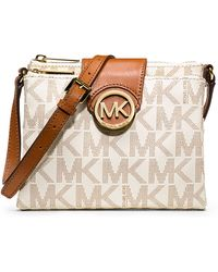 MICHAEL Michael Kors Fulton Small Saffiano Leather Messenger - Lyst