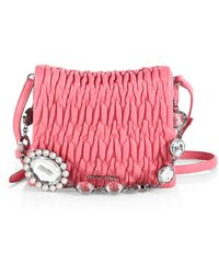Miu Miu Embellished Square Shoulder Bag - Lyst