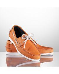 Ralph Lauren Telford Ii Leather Boat Shoe - Lyst