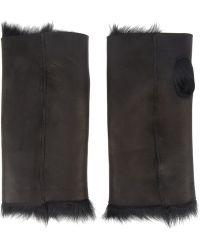 Karl Donoghue - Shearling Fingerless Gloves - Lyst