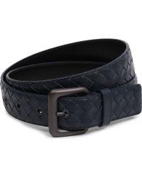 Bottega Veneta Intrecciato Leather Belt - For Women - Lyst