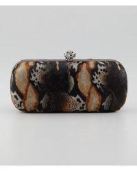 House of Harlow 1960 - Wynn Calf Hair Skull Clutch Bag - Lyst