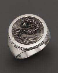 John Hardy - Men'S Naga Silver Round Ring - Lyst