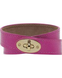 Mulberry Bayswater Doublewrap Bracelet purple - Lyst