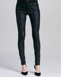 Vince Moto Leather Pants Black - Lyst