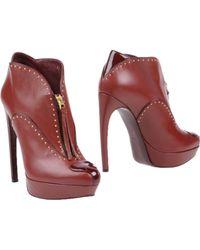 Alexander McQueen Shoe Boots brown - Lyst