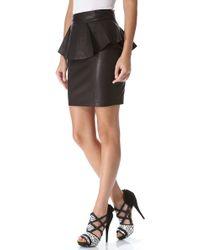Torn By Ronny Kobo - Gigi Leather Peplum Skirt - Lyst