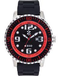 Izod - Watch, Unisex Black Rubber Strap 55Mm Izs4-4Blk-Red - Lyst