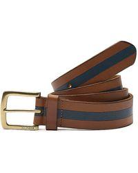 Tommy Hilfiger Pieced Stripe Leather Belt - Lyst