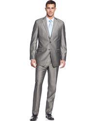 Calvin Klein Grey Herringbone Big Tall - Lyst