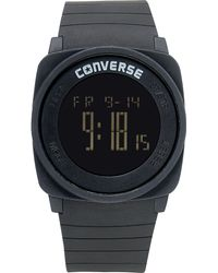 Converse - Unisex Digital Full Court Black Silicone Strap 45mm Vr034001 - Lyst