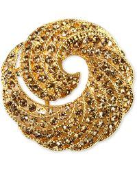 Jones New York - Gold-tone Crystal Swirl Box Pin - Lyst
