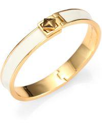 Kate Spade Enamel Turnlock Bracelet - Lyst