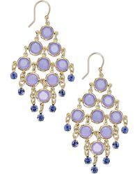 Kate Spade Goldtone Purple Stone Chandelier Earrings - Lyst