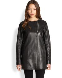Mackage Leather Car Coat - Lyst