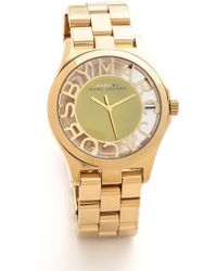 Marc By Marc Jacobs Henry Skeleton Watch - Gold - Lyst