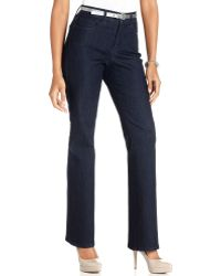 Not Your Daughter's Jeans Nydj Barbara Bootcutleg Dark Enzyme Wash - Lyst