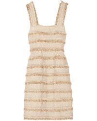 Oscar de la Renta Metallic Tweed Dress - Lyst