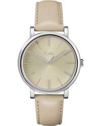 Timex® Womens Premium Originals Modern Classic Tan Leather Strap 38mm T2p162ab - Lyst