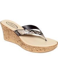 Callisto Sandy Platform Wedge Sandals - Lyst