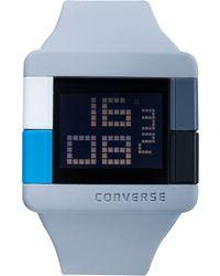 Converse - Unisex Digital High Score Gray Silicone Strap 47mm Vr014080 - Lyst