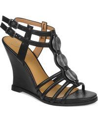 Fergie - Keno Demi Wedge Sandals - Lyst