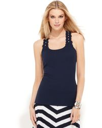 Inc International Concepts Sleeveless Laceback Tank - Lyst
