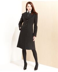 Jones New York Petite Wool-Blend Walker Coat - Lyst