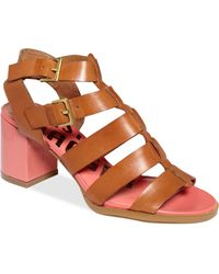 Kelsi Dagger Brooklyn - Carmen Gladiator Mid Heel Sandals - Lyst