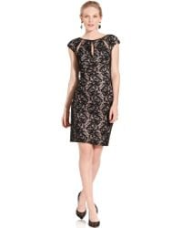 Maggy London - Capsleeve Cutout Lace - Lyst