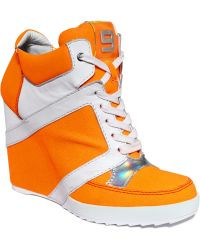 Nine West Elzorro High Top Wedge Sneakers - Lyst