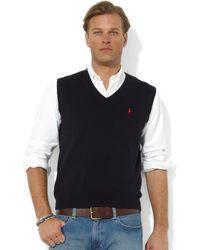 Polo Ralph Lauren Core Solid Sweater Vest - Lyst