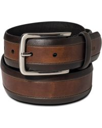 Tommy Hilfiger Two Tone Leather Belt - Lyst