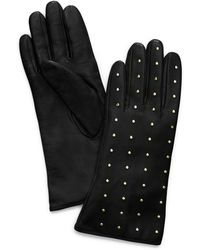 Tory Burch - Studded Leather Gloves - Lyst