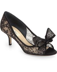 Valentino Lace Bow Pumps - Lyst
