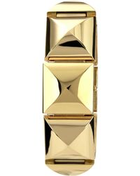 Vince Camuto - Womens Gold-tone Pyramid Link Covered Bracelet 25x22mm Vc - Lyst