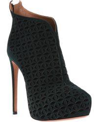Alaïa Laser Cut Ankle Boot - Lyst