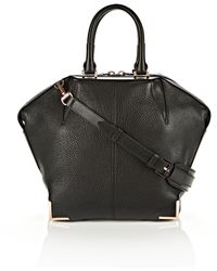 Alexander Wang Small Emile In Soft Black With Rose Gold - Lyst