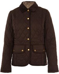 Barbour Brown Vintage Quilted Jacket - Lyst