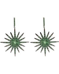 Bochic - Tsavorite and Diamond Starburst Earrings - Lyst