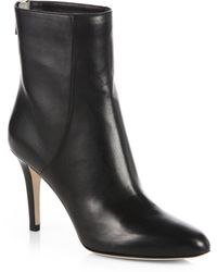 Jimmy Choo Brock Leather Mid-Calf Booties - Lyst