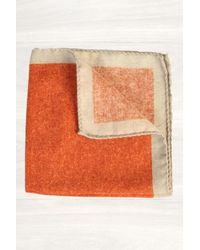 Mr Start Orange Wool Flannel Pocket Square - Lyst