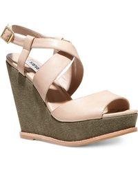 Steve Madden Brendda Platform Wedge Sandals - Lyst