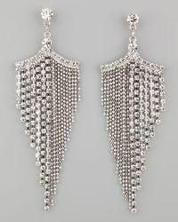 A.V. Max - Silver Tone Rhinestone Chandelier Earrings - Lyst