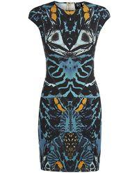 McQ by Alexander McQueen Kaleidoscopic Beetle Print Tube Dress - Lyst