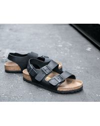 James Perse - Birkenstock Mens Milano Oiled Leather Sandal - Lyst