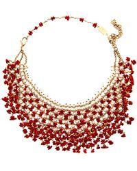 Rosantica - Papavero Pearl Coral Necklace - Lyst