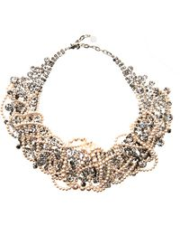 Tom Binns - Grande Dame Pearl Crystal Necklace - Lyst