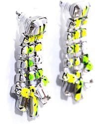 Tom Binns - Co Vert Marble Effect Earrings - Lyst