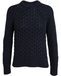 Acne Studios Ruth Cable Knit Cotton Jumper - Lyst